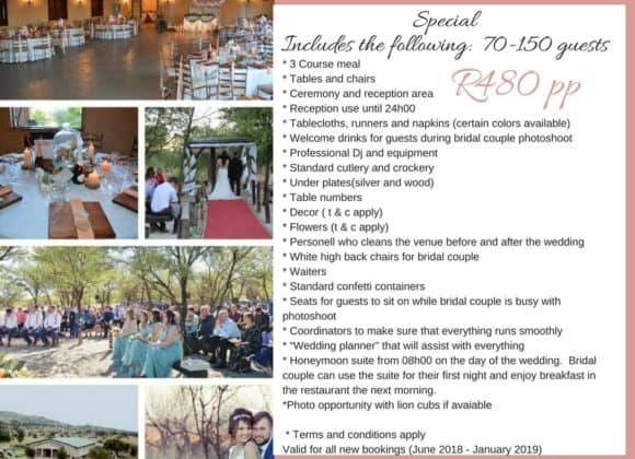 Wedding Special Package – 2018