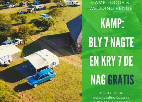 Camping Special – Stay 7 Nights and get the 7th Free