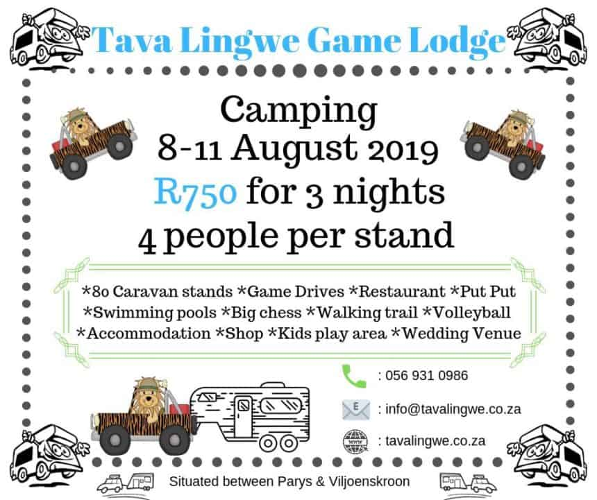 Camping Stand Special 8th – 11th August 2019