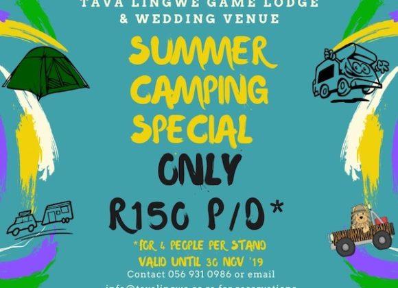 Summer Camping Special – Valid until 30th November