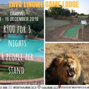 Camping Special – 13th to 16th December 2019